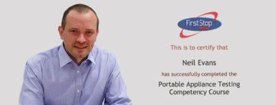 Congratulations, Neil Evans