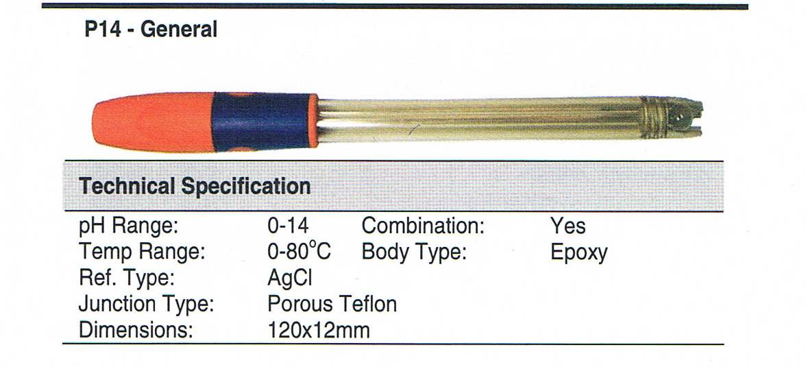 Sentek replacement polymer bodied combination pH meter electrode