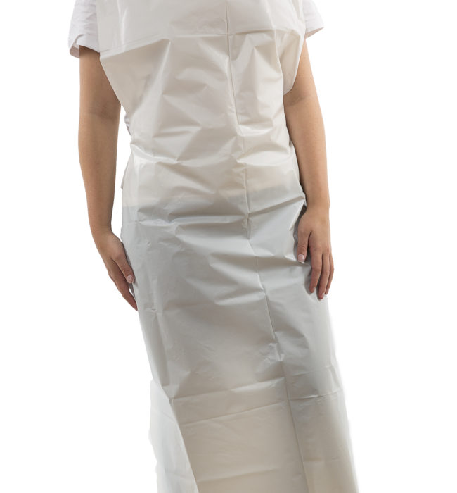 Disposable Aprons 690 x 1070mm (27 x 42″) Lightweight Blue
