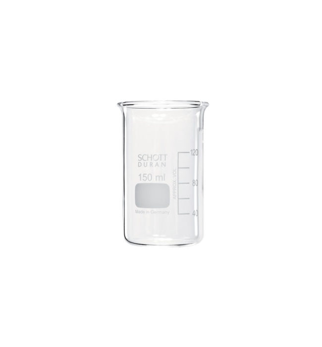 Measuring Geometries 150ml glass beaker