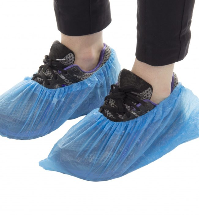 "Disposable Overshoes 14"" / 35cm PVC"