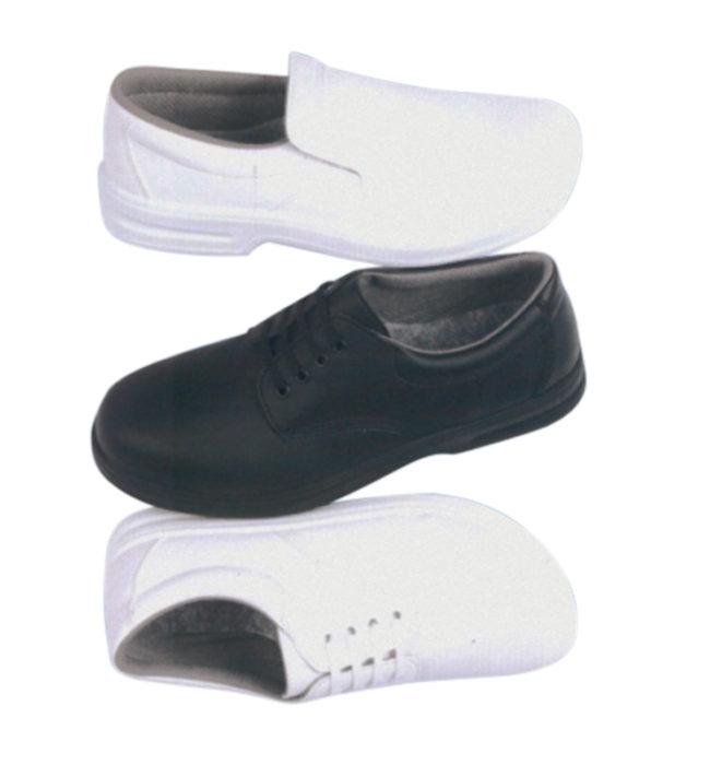 Unisex white lace up safety shoe