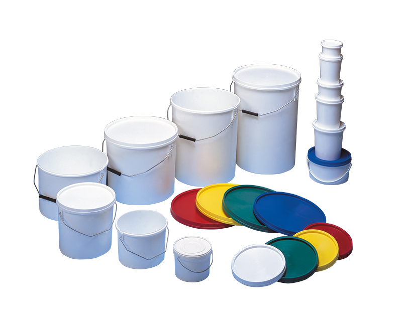 Niftilids with handle and white lid 15L