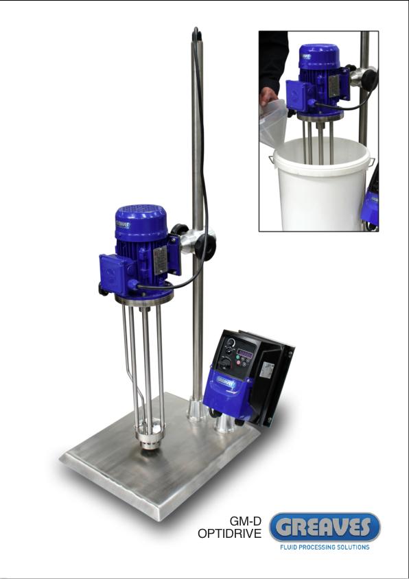 Greaves Model D lab mixer, 7-90 litres capacity